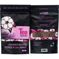 LAVENDER ROOIBOS TEA - ORGANIC LOOSE LEAF - TEA SQUARED - 6-2.8z BAGS