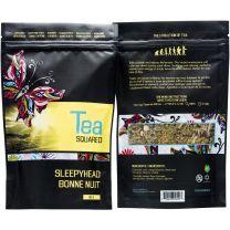 SLEEPYHEAD TEA - ORGANIC LOOSE LEAF - TEA SQUARED - 6-2.8z BAGS