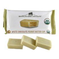Organic PB Cups - White Chocolate - BROOKLYN BORN CHOCOLATE