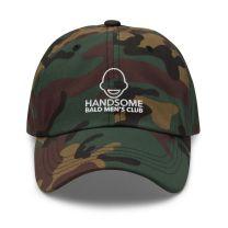 Cap-Hat - Handsome Bald Men's Club - Green Camo - FREE SHIPPING