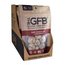 GLUTEN FREE BITES - DARK CHOCOLATE COCONUT BITES 12-4Z BAGS