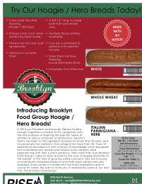 HOAGIE / HERO BREADS - WHOLE WHEAT - 24-7Z EACH - BROOKLYN FOOD GROUP