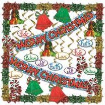 WINTER - CHRISTMAS - Merry Christmas Metallic Decorating Kit - FREE SHIPPING