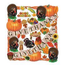 FALL - THANKSGIVING - Thanksgiving Trimorama - FREE SHIPPING