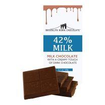 Chocolate Bar - Milk Chocolate 42% - BROOKLYN BORN CHOCOLATE