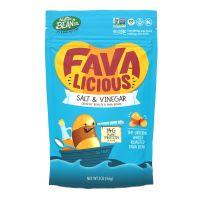 Favalicious Salt & Vinegar Whole Roasted Fava Bean Snacks 12-2z bags