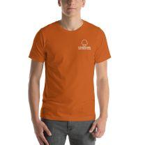 T-Shirt Short Sleeve - Handsome Bald Men's Club - LARGE 30x22 - AUTUMN - FREE SHIPPING