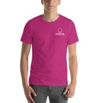 T-Shirt Short Sleeve - Handsome Bald Men's Club - MEDIUM 29x20 - BERRY - FREE SHIPPING
