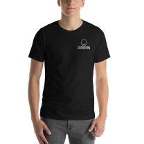 T-Shirt Short Sleeve - Handsome Bald Men's Club - LARGE 30x22 - BLACK - FREE SHIPPING