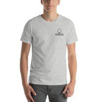 T-Shirt Short Sleeve - Handsome Bald Men's Club - LARGE 30x22 - HEATHER GREY - FREE SHIPPING