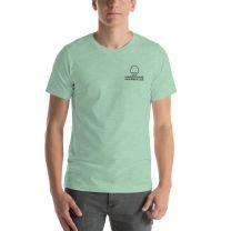 T-Shirt Short Sleeve - Handsome Bald Men's Club - MEDIUM 29x20 - HEATHER MINT - FREE SHIPPING