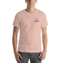 T-Shirt Short Sleeve - Handsome Bald Men's Club - LARGE 30x22 - HEATHER PEACH - FREE SHIPPING