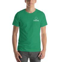 T-Shirt Short Sleeve - Handsome Bald Men's Club - MEDIUM 29x20 - KELLY GREEN - FREE SHIPPING
