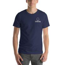 T-Shirt Short Sleeve - Handsome Bald Men's Club - SMALL 28x18 - NAVY - FREE SHIPPING