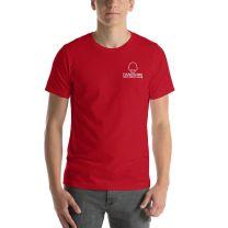 T-Shirt Short Sleeve - Handsome Bald Men's Club - MEDIUM 29x20 - RED - FREE SHIPPING