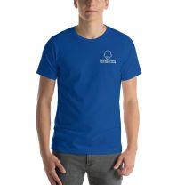 T-Shirt Short Sleeve - Handsome Bald Men's Club - LARGE 30x22 - ROYAL BLUE - FREE SHIPPING