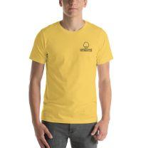 T-Shirt Short Sleeve - Handsome Bald Men's Club - LARGE 30x22 - YELLOW - FREE SHIPPING