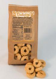 Taralli - Cheese and Pepper - Traditional Italian Crispy Cracker
