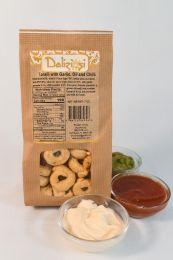 Taralli - Garlic - Oil - Chilli - Traditional Italian Crispy Crackers